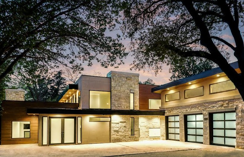 Nestled Into A Small Hillside Overlooking Creek This Lakewood Home Was Designed And Built For Family Of Four With Modern Clean Aesthetic Consisting